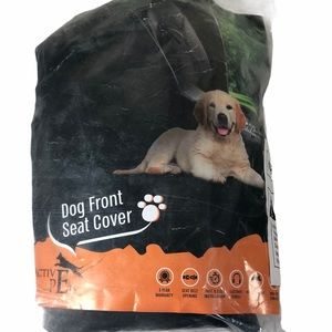 Dog Front Seat Car Cover Pet Protection Black